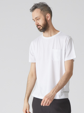 【YZO】ロゴシリコンプリントTシャツ