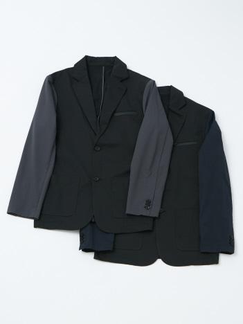 【YZO】袖切り替えバイカラーテーラードジャケット