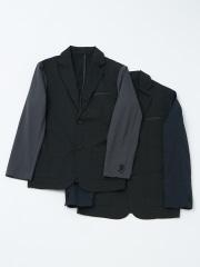 ABAHOUSE - 【YZO】袖切り替えバイカラーテーラードジャケット