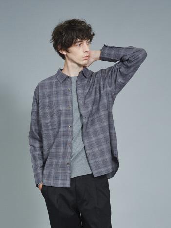 ABAHOUSE - 【セットアップ対応】平織り チェック レギュラーカラー シャツ