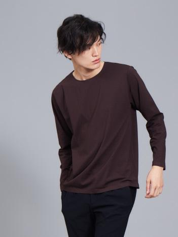 ABAHOUSE - 【ノンストレス】COTTON LYCRA圧着クルーロングTシャツ