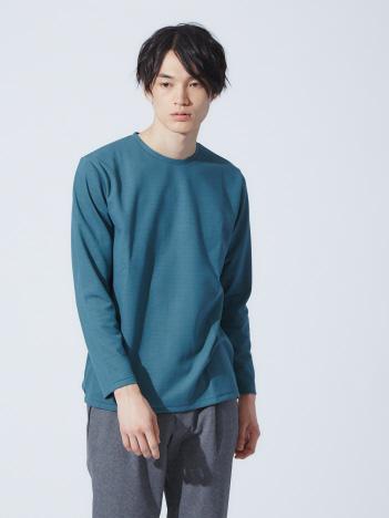 OUTLET (MEN'S) - ダブルフェイスボーダーロングスリーブTシャツ