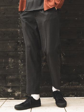 【セットアップ対応】TW 平織り スリム テーパードパンツ