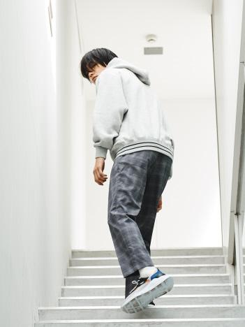 【セットアップ対応】 チェック スリムテーパードパンツ【予約】