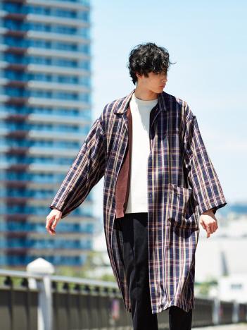 オーバーサイズ ロング シャツ コート
