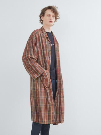 オーバーサイズロングシャツコート