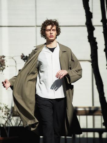 ABAHOUSE GRAY - オーバーサイズロングシャツコート