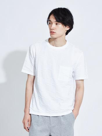 【Recency of Mine】リンクスブロックジャガード半袖Tシャツ