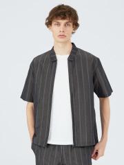 【セットアップ対応】キュプラリネンZIPシャツ