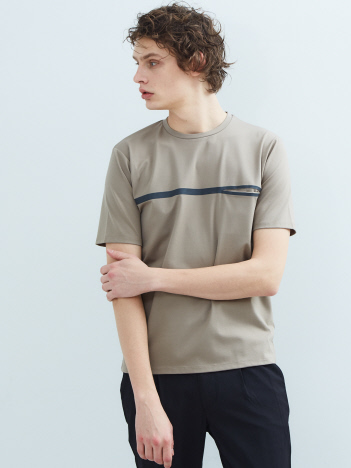 ABAHOUSE - 【FLAT TECH】フロント 圧着 ポ ケット Tシャツ【予約】
