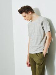 【ノンストレス】圧着クルーネック 半袖Tシャツ