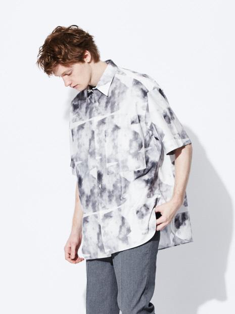 【STUDIO NICHOLSON】 プリント オーバーサイズ シャツ