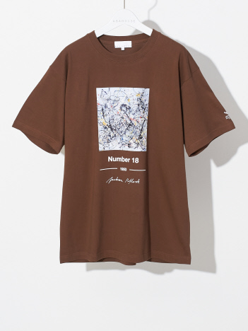 ABAHOUSE - 【WEB別注】Pollock/ポロック number18 アート Tシャツ