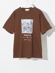 【WEB別注】Pollock/ポロック number18 アート Tシャツ