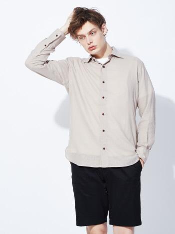 【Recency of Mine】フレンチリネンワイドカラーシャツ