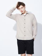 フレンチリネンワイドカラーシャツ