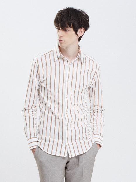 【Recency of Mine】ブークレーラインストライプシャツ