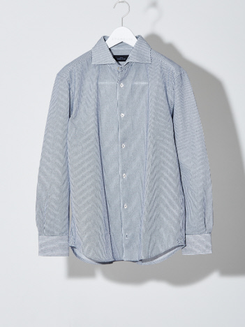 ABAHOUSE - 【FLEX/吸水速乾】ラッセルストライプ シャツ【予約】
