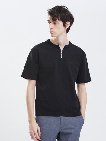 ダブルバインダー  ジップ半袖Tシャツ
