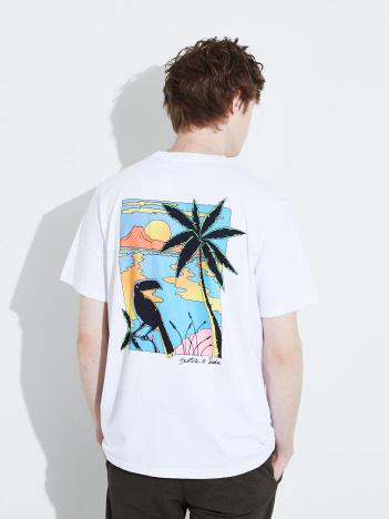 ABAHOUSE - 【SCOTCH&SODA】刺繍&バックプリント 半袖Tシャツ