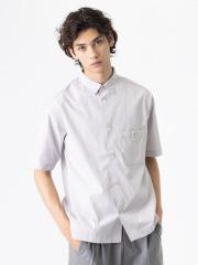 ストライプ 半袖 コットン オーバーサイズ シャツ