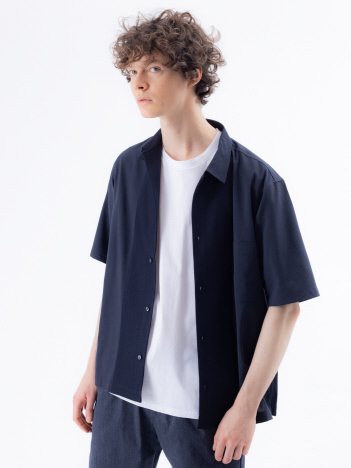 EVALET T/C素材 ラッセル 半袖シャツ