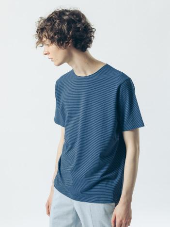 【ノンストレス】COTTON LYCRA 圧着 クルーネック 半袖 Tシャツ