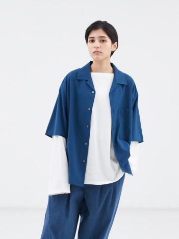 【MYSELF ABAHOUSE】POLYTOROTEX オープンカラー シャツ