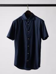マルチストレッチファブリックプリント 半袖 シャツ