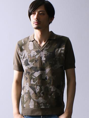 カモフラジャガードスキッパーポロシャツ