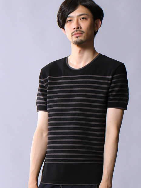 スレッドボーダーTシャツ