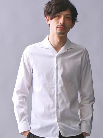 5351POUR LES HOMMES - アルビニドビーストレッチオープンシャツ