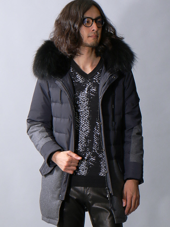 5351POUR LES HOMMES - コンビネーションロングダウンコート