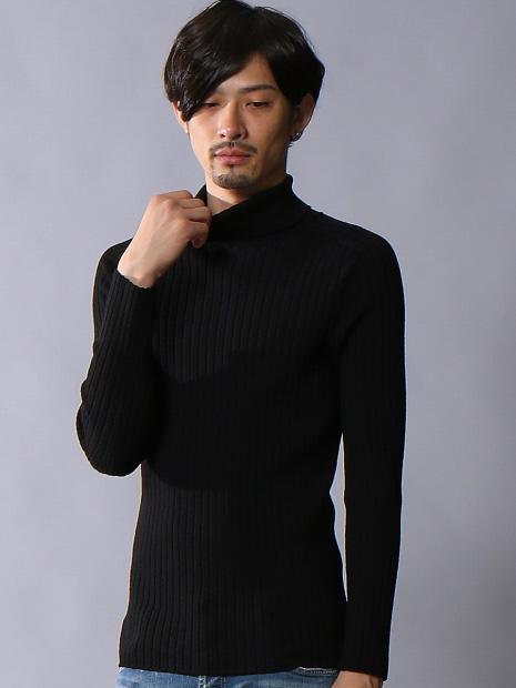 【定番/新色】ホールガーメンタートルネックニット