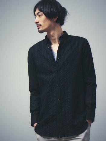 カラミクロス刺繍オーバーシャツ