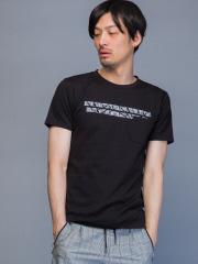 5351POUR LES HOMMES - ワンラインクルーネックTシャツ