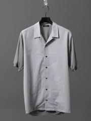 5351POUR LES HOMMES - オープンカラーニットシャツ