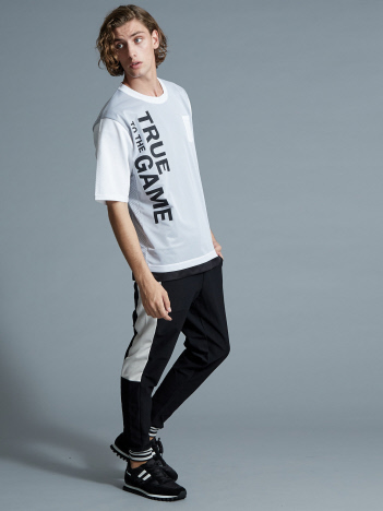 SPALDINGプリントメッシュTシャツ