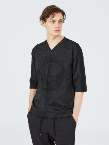 【SPALDING×5351】3Dプリント変形VネックTシャツ