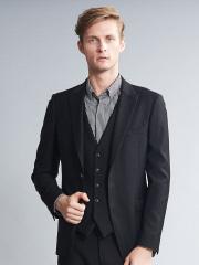 5351POUR LES HOMMES - 【セットアップ対応】ブラックギャバテーラードジャケット