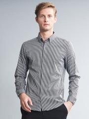 5351POUR LES HOMMES - アルビニストライプストレッチドレスシャツ