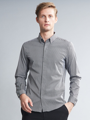 アルビニストライプストレッチドレスシャツ【予約】