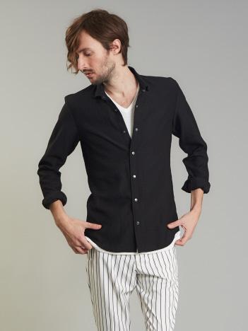 5351POUR LES HOMMES - エアリーツイル製品ワッシャーシャツ