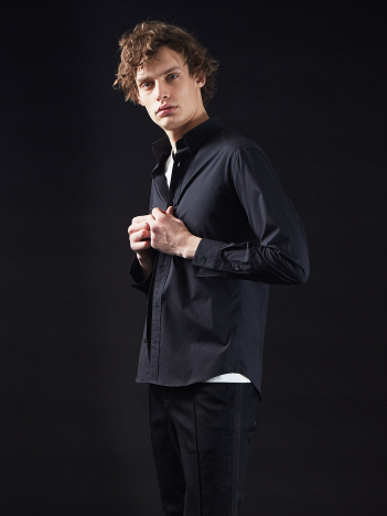 5351POUR LES HOMMES - ライトストレッチブロードドレスシャツ