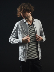5351POUR LES HOMMES - COOL MAXワッシャーシャツ