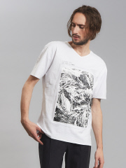 5351POUR LES HOMMES - 圧着マウンテンTシャツ