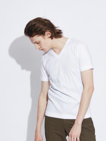【Vネック】プライマリースムース半袖Tシャツ