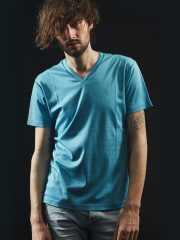 5351POUR LES HOMMES - 【Vネック】プライマリースムース半袖Tシャツ【予約】