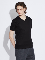 5351POUR LES HOMMES - 【Vネック】プライマリースムース半袖Tシャツ