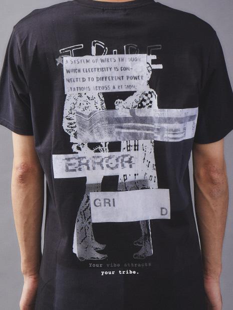【数量限定】リメイクTシャツ (パッチワーク×ペーパープリント)